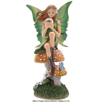 Tales of Avalon Fairy with Glass Ball Lisa Parker Fairy /resin fairy figurines