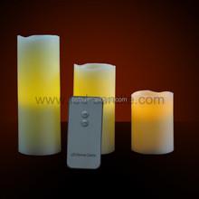 Remote Control Pillar Wax LED candle light