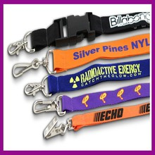 Custom Polyester Lanyard with Metal Side Release Buckle