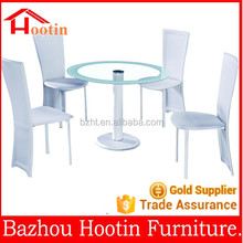 modern round glass dining table set dining table and leather chairs set