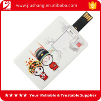 Cheap custom portable plastic business credit card usb from China factory