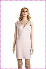 back open white v neckline bandage prom dress 2015 lady breathable sexy abaya evening dress