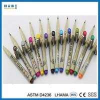 0.5mm 12pcs color fine liner pen