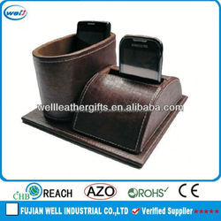 Promotion pu leather mobile phone holder