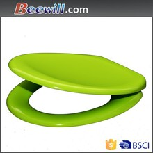 Colorful duroplast two piece slow close wc seat,soft close toilet lid cover