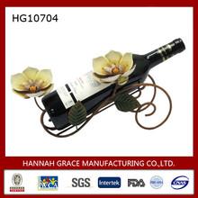 Antique Metal Orchid Wine Holder