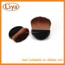 Professional nylon hair cosmetics brush powder compact with private label