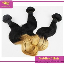 Best selling products wholesale natural black top quality 8a grade beauty ombre hair extension