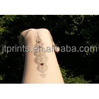 Jewelry Inspired Metallic Temporary Tattoos Stickers Flash Tattoo Gold Silver CN jtprints
