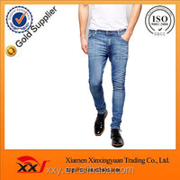 Blue washed jean fabric cheap jeans wholesale price comfortable jeans men alibaba china
