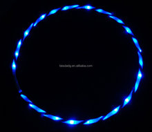 2015 Latest Wholesale Flashing Blue LED Hula Hoop with Many Color For Choose