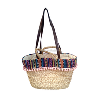 Shoulder/Tote tassel ball ladies natural handbags straw shopping bag