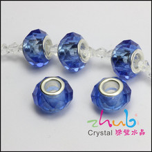 Special High-quality Crystal Large Hole Beads Wedding Decorative Crystal Accessories Crystal Beads Loose Beads