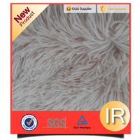 long hair drawn needle process polyester garments accessories pv plush fabric