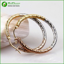 2015 New Style Huggie Three Color Gold Ear Tops Designs