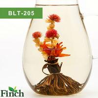 2015 Hot Sale Hanmdmade Blooming Flower Black Tea Peacock Spread His Tail