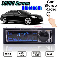 New 12V TOUCH BLUETOOTH 1-Din Stereo Radio MP3 USB/SD AUX Player Car in Dash 50Wx4
