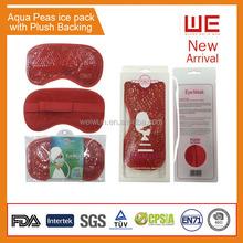 Aqua peas eye mask   cooling sleeping gel eye mask with plush backing
