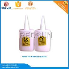 High density pvc glue for light box