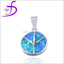 wholesale plant jewelry silver plant opal plant pendant