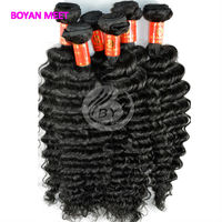 Cold Fusion 6A Good Brazilian Deep Wave Human Hair Extensions Wholesale