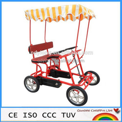 Cheap four wheel quadricycle surrey sightseeing bike for sale