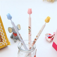 american hot sale design wholesale stationery items for schools flower lovely girl pattern gift micro needle refill pen