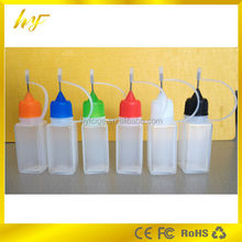 wholesale 10ml square LDPE plastic e-liquid bottles with stainless steel needle tip from manufacturer