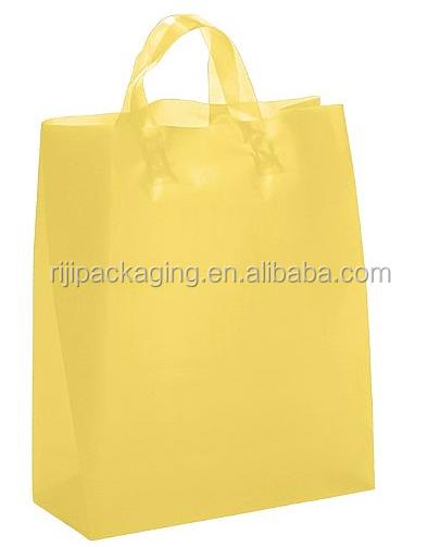 Popular saco plástico alça reutilizável reciclável lavável