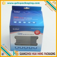 Folded corrugated cardboard shipping box with hanger hole