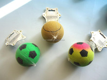 Neon rainbow rubber soccer and basketball toy for your dog-pets' wanted,your pets' very own