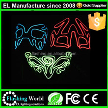el wire mask light up mask holiday and party gifts/Light Up EL Mask,EL Wire Mask,led mask
