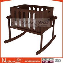 Cubby Plan LMBN-003 New 2 in 1 Wooden Baby Swing Bassinet/Baby Cot/ Baby Cradle