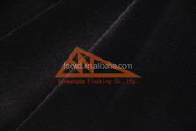 Junma Manufacturer China sunflower design shaoxing fabric flocking fabrics for indian suits