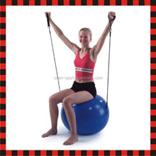 Dual texture hot pilates gym fitness yoga exercise ball with handle