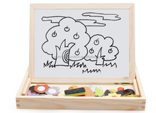 Child Double Drawing Board Multifunctional Magnetic Wooden Puzzle