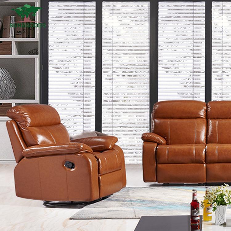 Mejor venta sofá de cuero seccional muebles de tendencia, monoplaza sofá de cuero