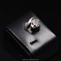 925 Sterling Silver Silver Jewelry Leopard Head Antique Finishing Male Ring Wholesale