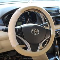 T.P.E white tube S size polished PVC car steering wheel cover