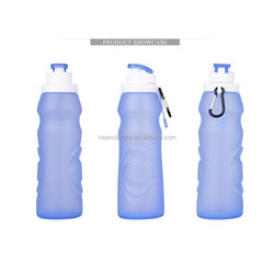 Foldable silicone drink bottle insulated sports water bottles straw