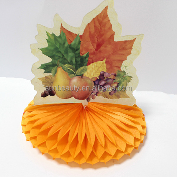 Thanksgiving table decorations tissue paper honeycomb