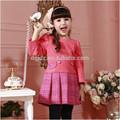 Los niños coreanos de ropa al por mayor/2015 nuevo estilo de vestidos de/de otoño e invierno para niños boutique de ropa