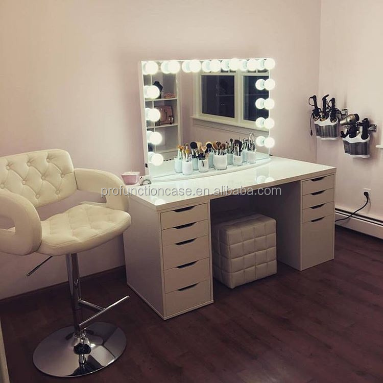 maison chambre meubles de luxe clairage maquillage miroir pour coiffeuse avec des lumi res led. Black Bedroom Furniture Sets. Home Design Ideas