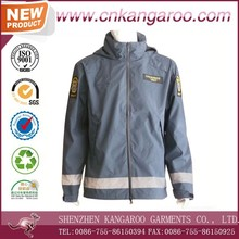 100% Polyester Spring Autumn Soft Anti-wear Comfortable Man Work Jacket with Reflective Stripes