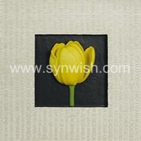polyresin flower wall art decor for home