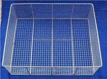2014 stainless steel kitchen metal basket wire rack wicker sink