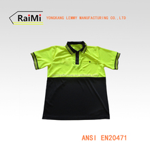 High Quality Reflective Safety Men's Polo shirt With Short Sleeves