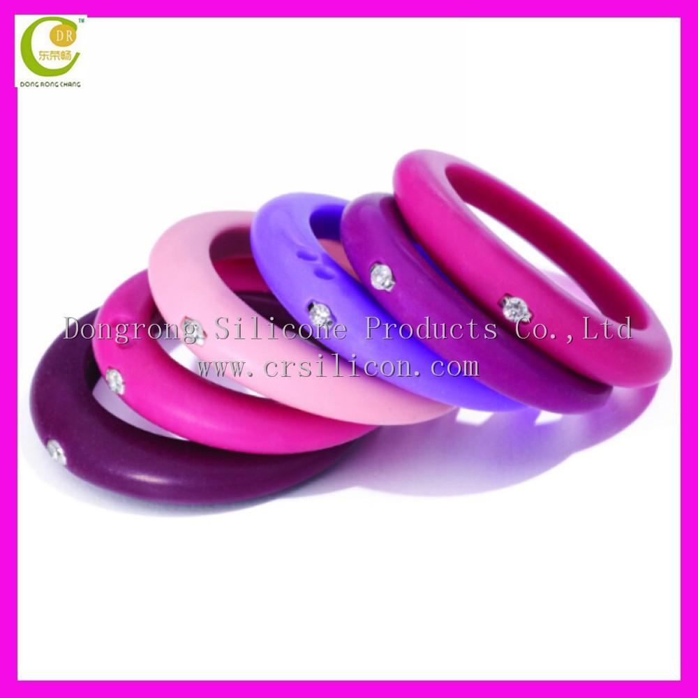Lovely Rubber Wedding Rings #1:  Wholesaleembossedcustomizedcolorfulsilicone