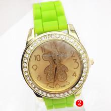 2015 New Design Ladies Chain Watch Silione Jelly Watch