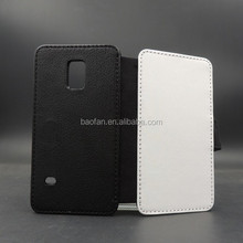 Blank sublimation Leather flip cover for samsung S5 MINI